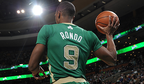Rajon Rondo has appeared in only 68 games for the Celtics in the past two years. (Brian Babineau/NBAE)
